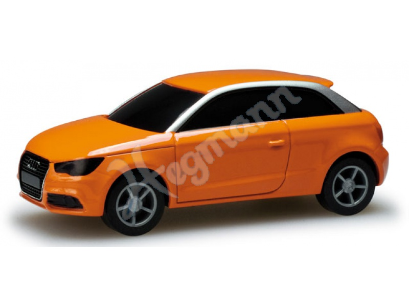 audi a1 pullback orange herpa 056243. Black Bedroom Furniture Sets. Home Design Ideas