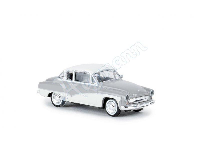 dunkelrosa//weiss Wartburg 311 Coupe NEUWARE! H0, 1:87 BREKINA 27155