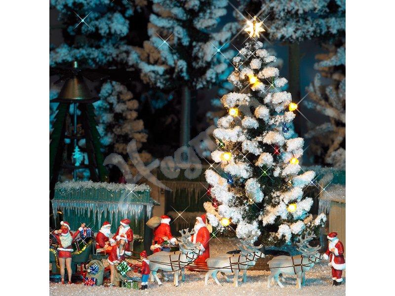 beleuchteter weihnachtsbaum modellbahn zubeh r im ma stab. Black Bedroom Furniture Sets. Home Design Ideas