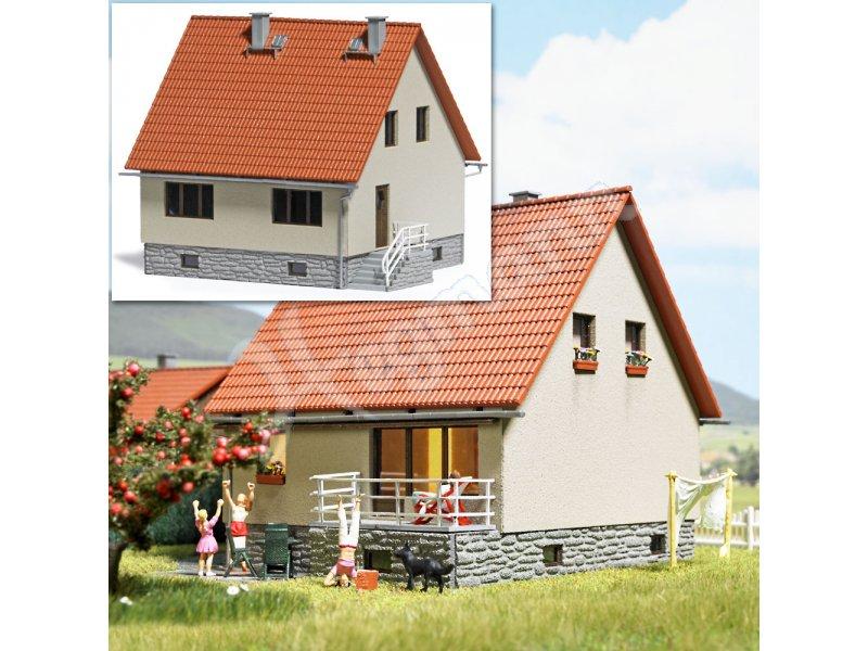 Einfamilienhaus h0 busch modellbahnzubeh r im ma stab 1 87 for Einfamilienhaus modelle