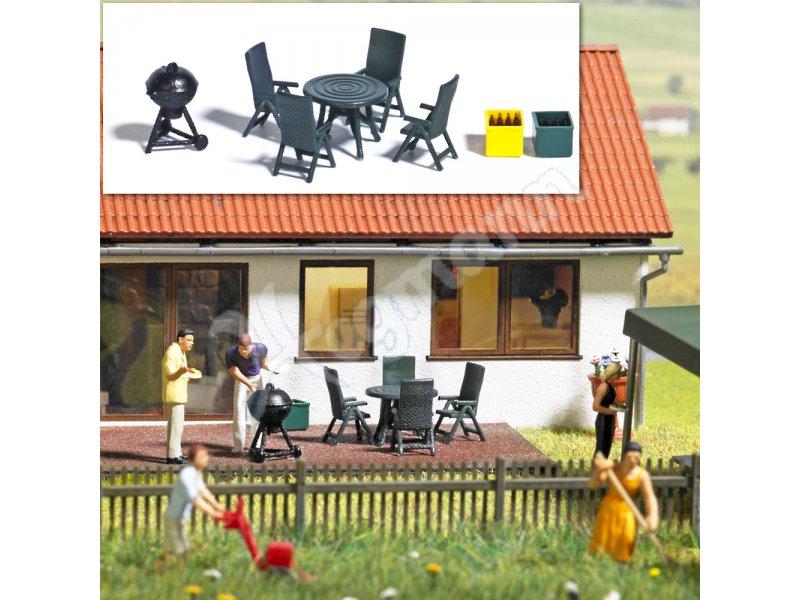 Gartenmöbel & Grill H0 BUSCH Modellbahnzubehör 1:87 H0 BUSCH 1190