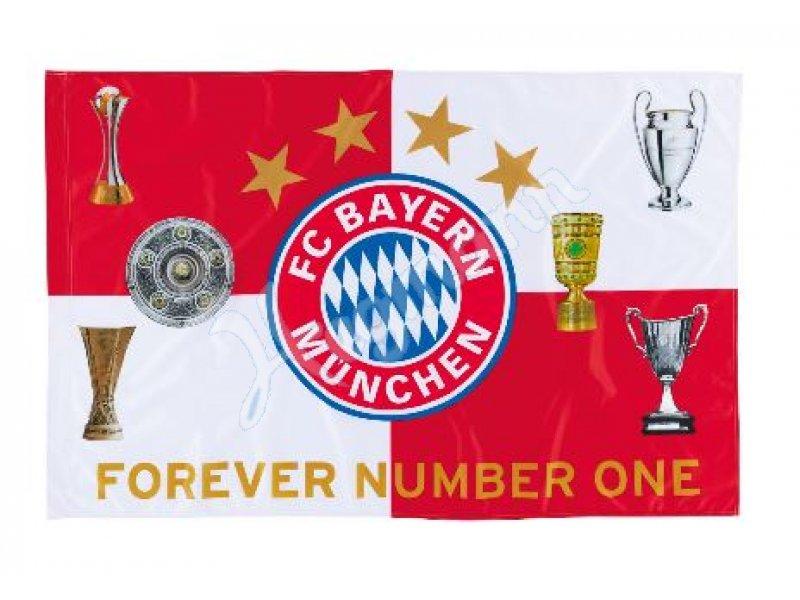 Fcb Fahne Pokale Fcb Fanartikel Fahne Rot Weiss Mit Logo Und Den 6