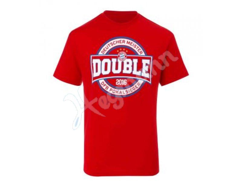 FC Bayern M/ünchen T-Shirt Double 2016 Deutscher Meister /& DFB Pokal Sieger FCB
