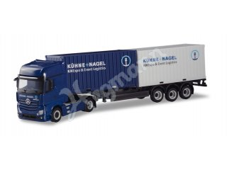 herpa 937061 H0 1:87 Mercedes-Benz Actros Gigaspace Container-Sattelzug