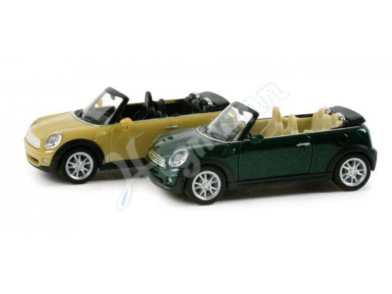 mini cooper cabrio met herpa 034197. Black Bedroom Furniture Sets. Home Design Ideas
