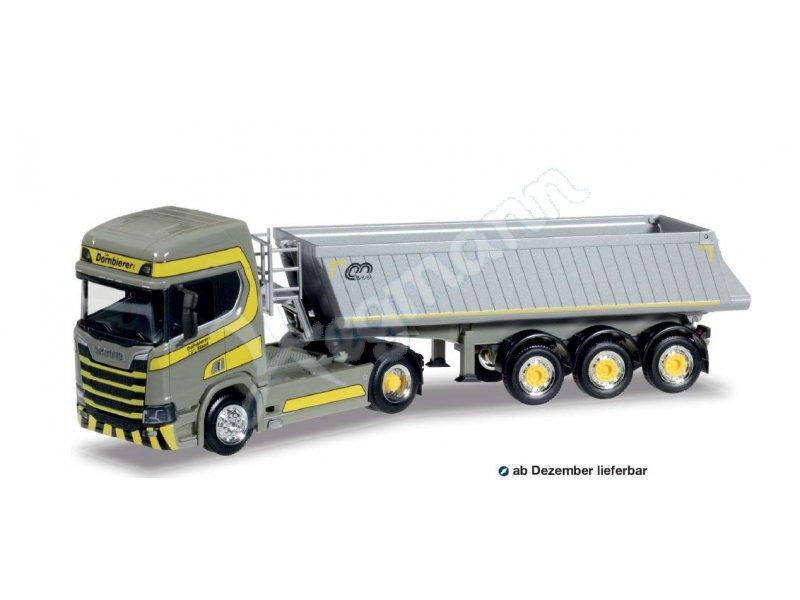 Herpa LKW Scania CS HD V8 Baukipper-SZ Dornbierer 929707