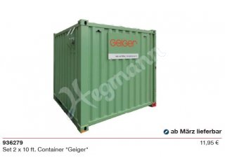 herpa 936279 H0 1:87 Set 2 x 10 ft. Container
