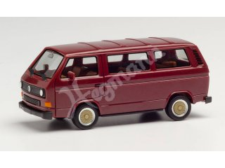 HERPA 420914 H0 1:87 VW T3 Bus, weinrot