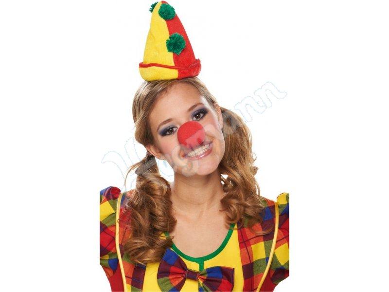 Clown Hut Miniatur Haarreif Mottoland Fasching Karneval