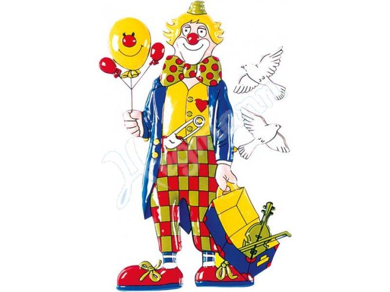 clown mit geige 45 x 80 cm mottoland fasching karneval. Black Bedroom Furniture Sets. Home Design Ideas