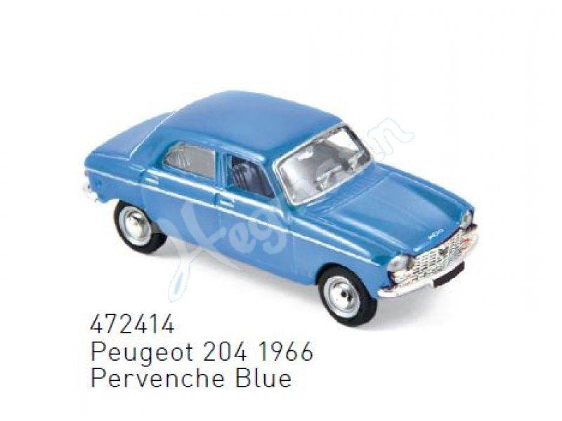 1//87 Norev Peugeot 204 1966 hellblau 472414