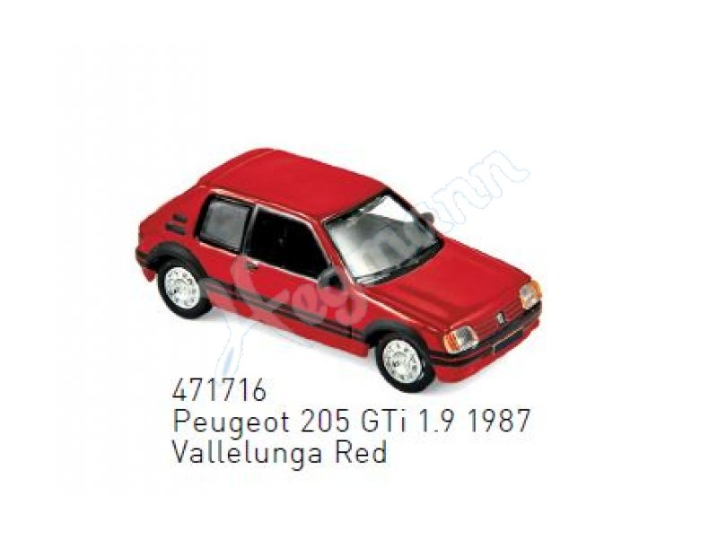 red 471716 NOREV 1:87 Peugeot 205 GTi 1.9-1987