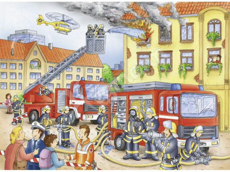 unsere feuerwehr 100 te serie kinderpuzzles karton inhalt ravensburger 108220. Black Bedroom Furniture Sets. Home Design Ideas