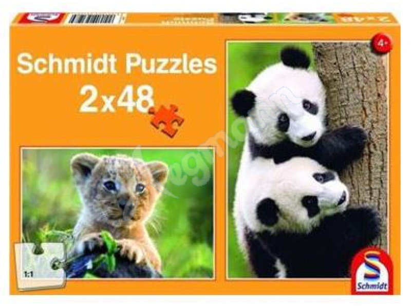 kipu2x48t s e tierbabies kinderpuzzle standard 2x48 teile schmidt spiele 56128. Black Bedroom Furniture Sets. Home Design Ideas