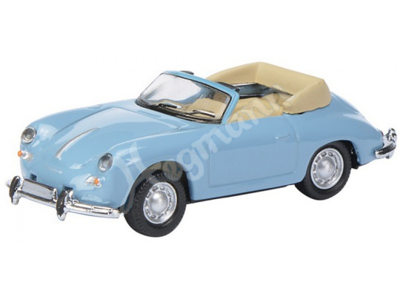 porsche 356 cabrio blau 1 87 schuco modellminiatur simba. Black Bedroom Furniture Sets. Home Design Ideas