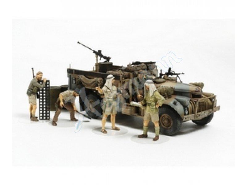 1:35 Brit. LRDG Befehlswagen TAMIYA-Plastik-Bausatz TAMIYA-CARSON ...