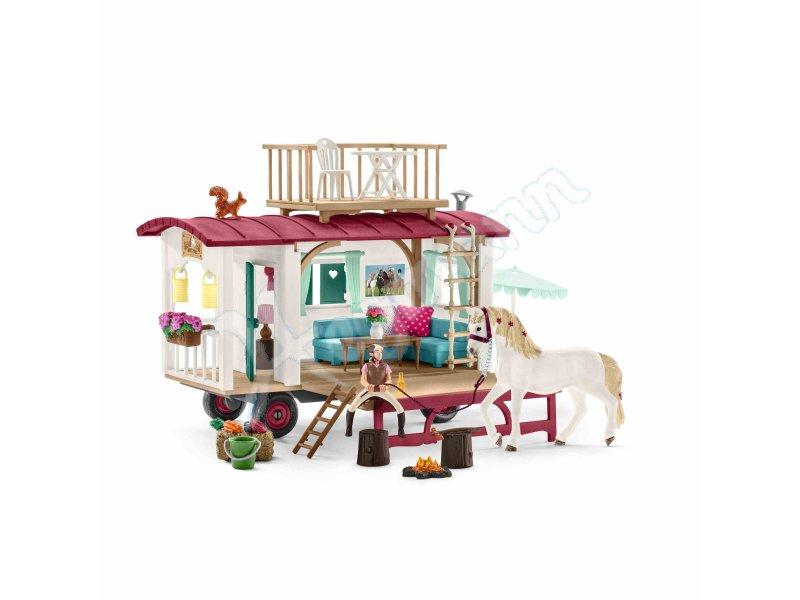 wohnwagen fuer geheime club t schleich 42415 miniaturfigur. Black Bedroom Furniture Sets. Home Design Ideas