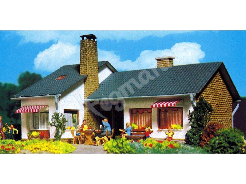 h0 bungalow vollmer haus bausatz in spurgr e 1 87 h0 viessmann 43712. Black Bedroom Furniture Sets. Home Design Ideas