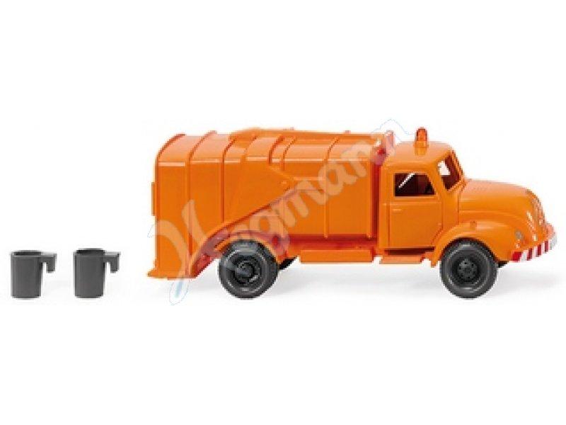 Mülltonne silber für Müllwagen Replika H0 I.M.U 3 St